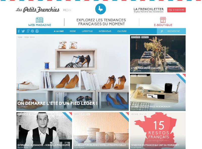 Le site web Les Petits Frenchies